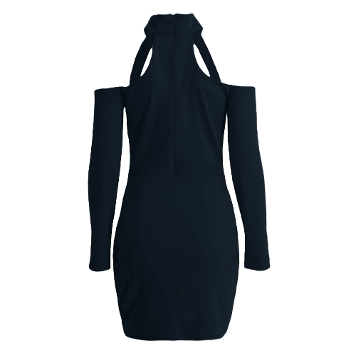 New Sexy Women Bodycon Dress High Neck Cut Out Off Shoulder Long Sleeve Party Clubwear Mini DressApparel &amp; Jewelry<br>New Sexy Women Bodycon Dress High Neck Cut Out Off Shoulder Long Sleeve Party Clubwear Mini Dress<br>