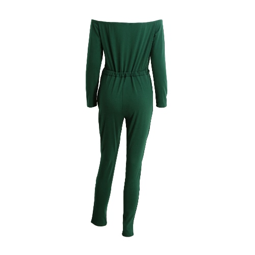 New Fashion Women One-Piece Jumpsuit Off The Shoulder Slash Neck Casual Bodysuit Elastic Waist Cutout Long Sleeve Club Playsuit RoApparel &amp; Jewelry<br>New Fashion Women One-Piece Jumpsuit Off The Shoulder Slash Neck Casual Bodysuit Elastic Waist Cutout Long Sleeve Club Playsuit Ro<br>