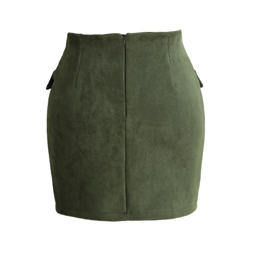Fashion Women Lace Up Suede Leather Skirt High Waist Vintage Pocket Preppy Bodycon Short Pencil SkirtApparel &amp; Jewelry<br>Fashion Women Lace Up Suede Leather Skirt High Waist Vintage Pocket Preppy Bodycon Short Pencil Skirt<br>