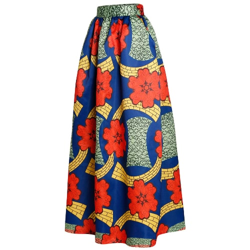 New Women Skirt African Print Ankara Dashiki Bohemian High Waist Pleated A-Line Maxi Flare SkirtApparel &amp; Jewelry<br>New Women Skirt African Print Ankara Dashiki Bohemian High Waist Pleated A-Line Maxi Flare Skirt<br>