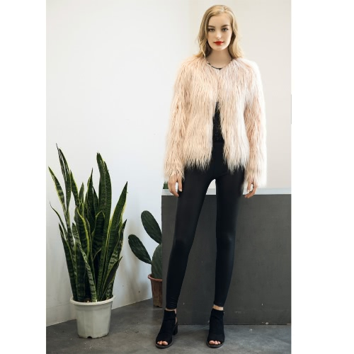 New Winter Women Faux Fur Coat Open Front Long Sleeve Fluffy Warm Outerwear Jacket Short OvercoatApparel &amp; Jewelry<br>New Winter Women Faux Fur Coat Open Front Long Sleeve Fluffy Warm Outerwear Jacket Short Overcoat<br>