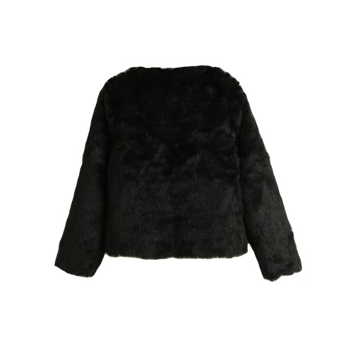 New Winter Women Faux Fur Coat Open Front Round Neck Long Sleeve Fluffy Warm Outerwear OvercoatApparel &amp; Jewelry<br>New Winter Women Faux Fur Coat Open Front Round Neck Long Sleeve Fluffy Warm Outerwear Overcoat<br>