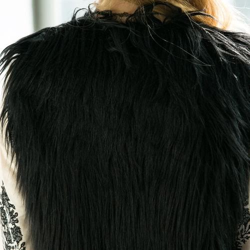 Fashion Women Fluffy Faux Fur Vest Sleeveless Coat Solid Furry Winter Warm Short Gilet Outerwear JacketApparel &amp; Jewelry<br>Fashion Women Fluffy Faux Fur Vest Sleeveless Coat Solid Furry Winter Warm Short Gilet Outerwear Jacket<br>