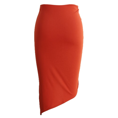 New Sexy Women Bodycon Lace-Up Skirt Side Split Asymmetric Hem Elastic Waist Solid Short Skirt Red/GreyApparel &amp; Jewelry<br>New Sexy Women Bodycon Lace-Up Skirt Side Split Asymmetric Hem Elastic Waist Solid Short Skirt Red/Grey<br>