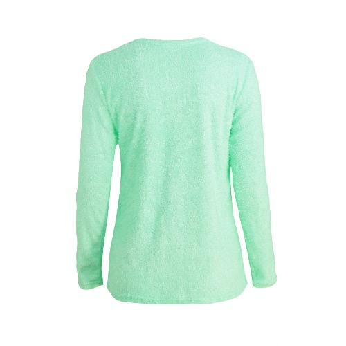 Fashion Women Fluffy Jumper Round Neck Long Sleeve Solid T-Shirt Top Grey/Pink/GreenApparel &amp; Jewelry<br>Fashion Women Fluffy Jumper Round Neck Long Sleeve Solid T-Shirt Top Grey/Pink/Green<br>