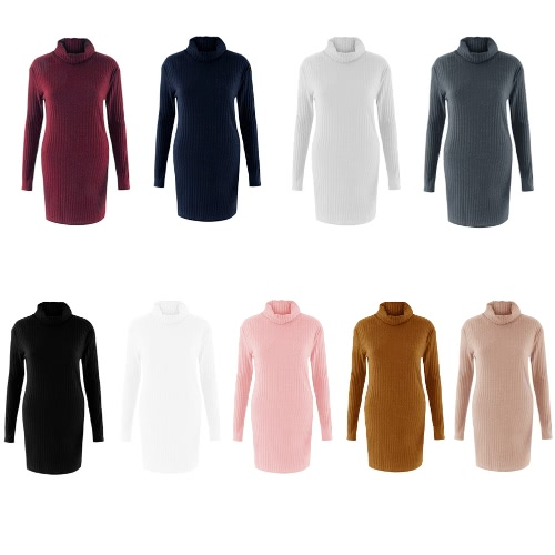 New Sexy Women Knit Dress Solid Turtleneck Long Sleeve Casual Party Mini Sweater DressApparel &amp; Jewelry<br>New Sexy Women Knit Dress Solid Turtleneck Long Sleeve Casual Party Mini Sweater Dress<br>