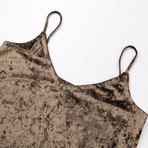 Sexy Women Cami Top Velvet Spaghetti Strap Plunging V-Neck Solid Sleeveless Casual Vest Pink/CoffeeApparel &amp; Jewelry<br>Sexy Women Cami Top Velvet Spaghetti Strap Plunging V-Neck Solid Sleeveless Casual Vest Pink/Coffee<br>