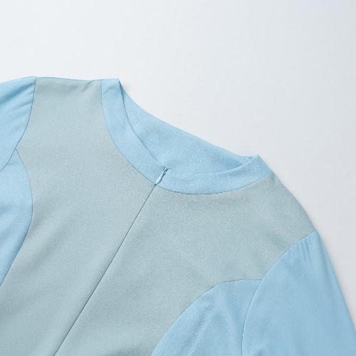 New Fashion Women Muslim Dress Spliced Color Block Crochet Lace Zipper Long Sleeve Arab Maxi One-PieceApparel &amp; Jewelry<br>New Fashion Women Muslim Dress Spliced Color Block Crochet Lace Zipper Long Sleeve Arab Maxi One-Piece<br>