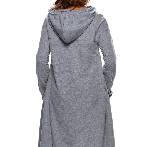 New Fashion Women Hoodie Solid Drawstring Irregular Oversize Long Sleeve Casual Sweatshirt GreyApparel &amp; Jewelry<br>New Fashion Women Hoodie Solid Drawstring Irregular Oversize Long Sleeve Casual Sweatshirt Grey<br>