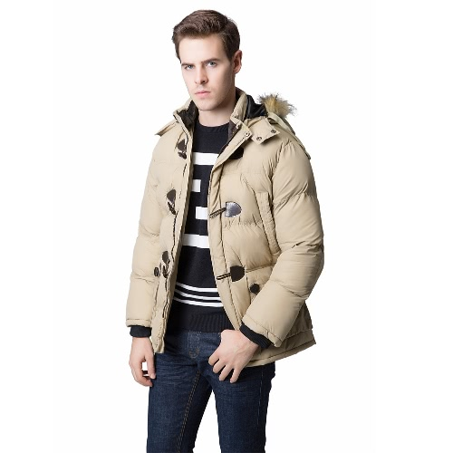 Fashion Winter Men Parka Faux Fur Collar Hooded Thick Warm Jacket Coat OuterwearApparel &amp; Jewelry<br>Fashion Winter Men Parka Faux Fur Collar Hooded Thick Warm Jacket Coat Outerwear<br>