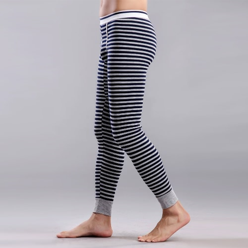 Fashion Men Winter Leggings Striped Long Johns Underwear Tights Elastic Waist Cotton Sleepwear Thermal PantsApparel &amp; Jewelry<br>Fashion Men Winter Leggings Striped Long Johns Underwear Tights Elastic Waist Cotton Sleepwear Thermal Pants<br>