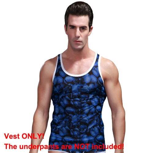 New Sexy Men Tank Top Floral Print Mesh Round Neck Sleeveless Breathable Slim Vest TopApparel &amp; Jewelry<br>New Sexy Men Tank Top Floral Print Mesh Round Neck Sleeveless Breathable Slim Vest Top<br>