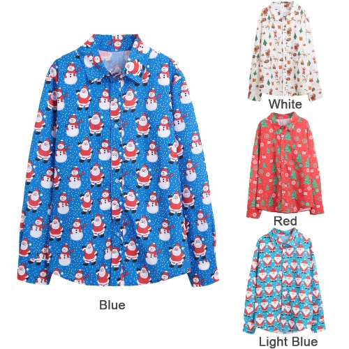 New Autumn Men Christmas Print Shirt Holiday Cartoon Long Sleeve Dress Shirt Casual Men TopApparel &amp; Jewelry<br>New Autumn Men Christmas Print Shirt Holiday Cartoon Long Sleeve Dress Shirt Casual Men Top<br>