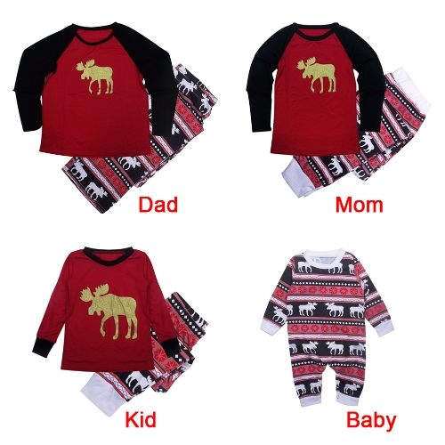Men Christmas Family Look Pajamas Reindeer Family Matching Outfit Father Mother Kids Baby T-Shirt Pants Set RedApparel &amp; Jewelry<br>Men Christmas Family Look Pajamas Reindeer Family Matching Outfit Father Mother Kids Baby T-Shirt Pants Set Red<br>