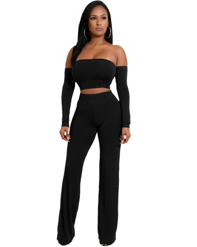 Off Shoulder Sexy Women Two Pieces Backless Bandages Lace Up Slim Crop Top Pants Trousers Club Ladies SuitsApparel &amp; Jewelry<br>Off Shoulder Sexy Women Two Pieces Backless Bandages Lace Up Slim Crop Top Pants Trousers Club Ladies Suits<br>