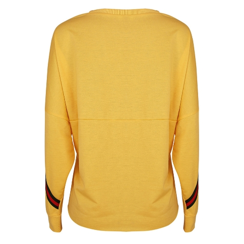 Fashion Women Batwing Sleeve Striped Loose Sweatshirt Pullover O Neck Casual Jumper T-Shirt Tops Red/YellowApparel &amp; Jewelry<br>Fashion Women Batwing Sleeve Striped Loose Sweatshirt Pullover O Neck Casual Jumper T-Shirt Tops Red/Yellow<br>