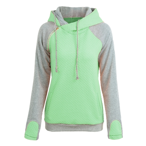 Fashion Women Hoodie Sweatshirts Contrast Color Long Sleeve Drawstring Casual Warm Pullover Hooded Tops Burgundy/Green/PinkApparel &amp; Jewelry<br>Fashion Women Hoodie Sweatshirts Contrast Color Long Sleeve Drawstring Casual Warm Pullover Hooded Tops Burgundy/Green/Pink<br>