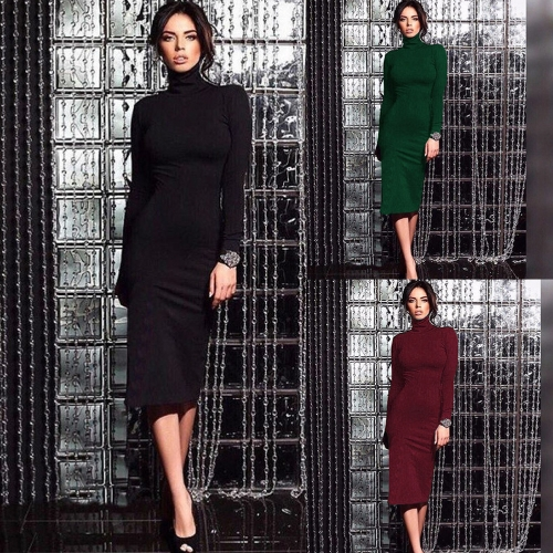 Women Turtleneck Bodycon Dress Long Sleeves Sheath Bandage Dress Evening Cocktail Party DressApparel &amp; Jewelry<br>Women Turtleneck Bodycon Dress Long Sleeves Sheath Bandage Dress Evening Cocktail Party Dress<br>