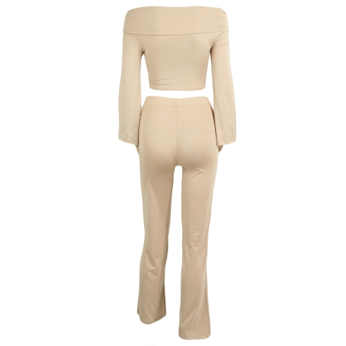 Sexy Women Two Pieces Off Shoulder Crop Top Bandage Bodycon Long Pants Solid Slim Club SuitsApparel &amp; Jewelry<br>Sexy Women Two Pieces Off Shoulder Crop Top Bandage Bodycon Long Pants Solid Slim Club Suits<br>