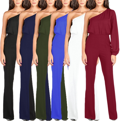 Fashion Women Jumpsuit Single Sleeve One Shoulder Slim Fit Overalls Casual Playsuits RompersApparel &amp; Jewelry<br>Fashion Women Jumpsuit Single Sleeve One Shoulder Slim Fit Overalls Casual Playsuits Rompers<br>