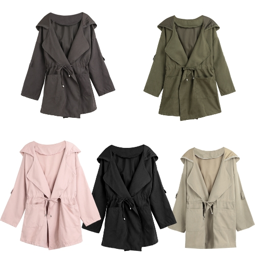Autumn Winter Women Jacket Coat Hooded Solid Overcoat Long Sleeve Pockets Casual OuterwearApparel &amp; Jewelry<br>Autumn Winter Women Jacket Coat Hooded Solid Overcoat Long Sleeve Pockets Casual Outerwear<br>