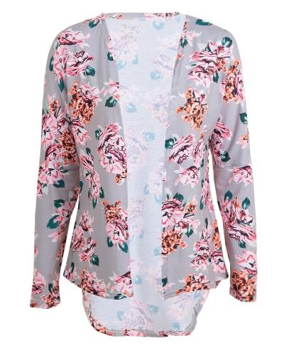 Fashion Women Cardigan Floral Print Long Sleeve All-match Casual Slim Thin Outwear Kimono Black/Grey/WhiteApparel &amp; Jewelry<br>Fashion Women Cardigan Floral Print Long Sleeve All-match Casual Slim Thin Outwear Kimono Black/Grey/White<br>