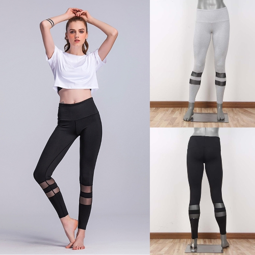 Women Fitness Yoga Pants Sports Leggings Mesh Insert Tights Workout Running Skinny Casual Trousers Black/GreyApparel &amp; Jewelry<br>Women Fitness Yoga Pants Sports Leggings Mesh Insert Tights Workout Running Skinny Casual Trousers Black/Grey<br>