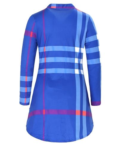 Fashion Women Plaid Shirt Dress Roll Up Sleeves Button V-Neck Pockets Curved Hem Casual Mini Dress Shift DressApparel &amp; Jewelry<br>Fashion Women Plaid Shirt Dress Roll Up Sleeves Button V-Neck Pockets Curved Hem Casual Mini Dress Shift Dress<br>