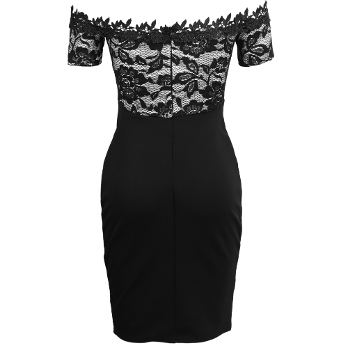 Women Bodycon Off Shoulder Dress Floral Lace Slash Neck Short Sleeves Sheath Party Bandage Dress VestidosApparel &amp; Jewelry<br>Women Bodycon Off Shoulder Dress Floral Lace Slash Neck Short Sleeves Sheath Party Bandage Dress Vestidos<br>
