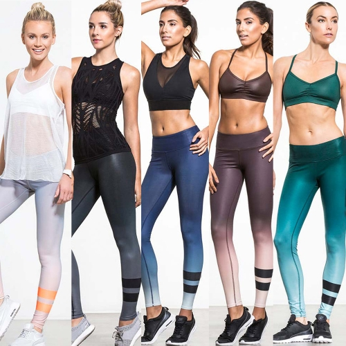 Sexy Women Slim Leggings Sport Yoga Gradient Striped Casual Fitness Skinny Pencil Pants TrousersApparel &amp; Jewelry<br>Sexy Women Slim Leggings Sport Yoga Gradient Striped Casual Fitness Skinny Pencil Pants Trousers<br>
