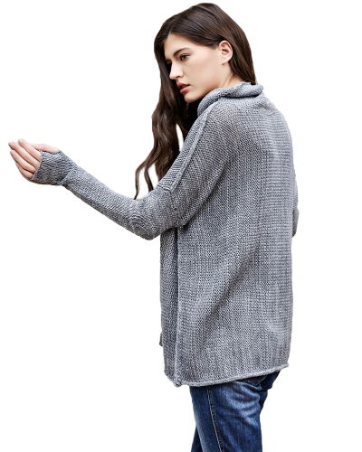 Casual Women Knitted Sweater Turtleneck Drop Shoulder Long Sleeves Loose Long Pullover KnitwearApparel &amp; Jewelry<br>Casual Women Knitted Sweater Turtleneck Drop Shoulder Long Sleeves Loose Long Pullover Knitwear<br>
