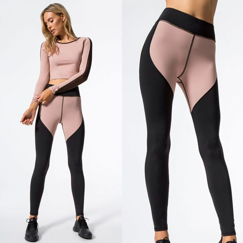 Women Sports Yoga Leggings Splicing Color Stretchy Sportswear Fitness Workout Skinny Bodycon Pants TrousersApparel &amp; Jewelry<br>Women Sports Yoga Leggings Splicing Color Stretchy Sportswear Fitness Workout Skinny Bodycon Pants Trousers<br>