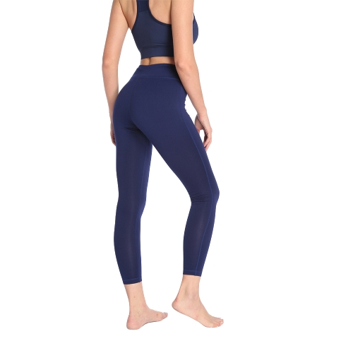 Women Solid Sports Leggings Yoga Pants Workout Running Tights Casual Skinny Fitness Trousers