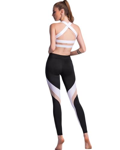 Women Sports Yoga Leggings Splice Stretchy Sportswear Fitness Skinny Bodycon Tights Pants Trousers BlackApparel &amp; Jewelry<br>Women Sports Yoga Leggings Splice Stretchy Sportswear Fitness Skinny Bodycon Tights Pants Trousers Black<br>
