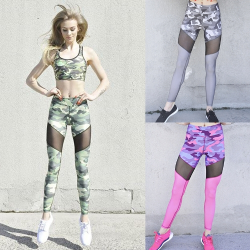 Sexy Women Camouflage Print Mesh Splice Sports Leggings Yoga Pants Workout Running Skinny Slim Fitness TightsApparel &amp; Jewelry<br>Sexy Women Camouflage Print Mesh Splice Sports Leggings Yoga Pants Workout Running Skinny Slim Fitness Tights<br>