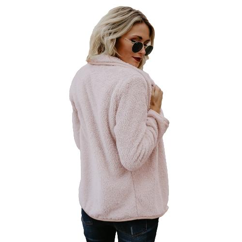 Women Faux Fur Fleece Coat Fluffy Solid Open Front Waterfall Drape Long Sleeve Casual Warm Outerwear JacketApparel &amp; Jewelry<br>Women Faux Fur Fleece Coat Fluffy Solid Open Front Waterfall Drape Long Sleeve Casual Warm Outerwear Jacket<br>