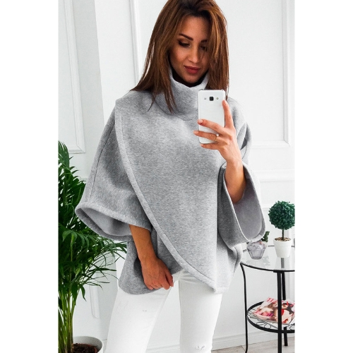 Women Loose Sweatshirt Solid Turtleneck Irregular Three Quarter Batwing Sleeve Casual Warm PulloverWomen Loose Sweatshirt Solid TuApparel &amp; Jewelry<br>Women Loose Sweatshirt Solid Turtleneck Irregular Three Quarter Batwing Sleeve Casual Warm PulloverWomen Loose Sweatshirt Solid Tu<br>