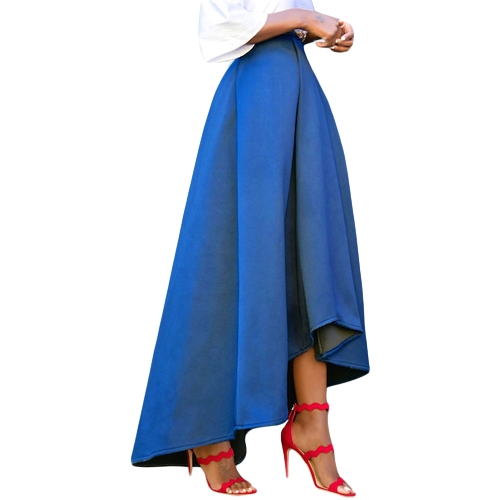 New Fashion Winter Women High Waist High Low Pleated Midi Skirt Solid Color A Line Skater Swing SkirtApparel &amp; Jewelry<br>New Fashion Winter Women High Waist High Low Pleated Midi Skirt Solid Color A Line Skater Swing Skirt<br>