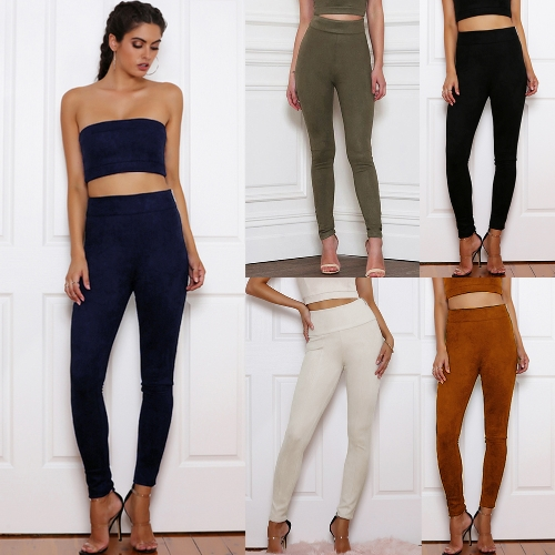 Sexy Women Faux Suede Leggings Solid Zipper High Waist Skinny Pants Tights Slim Bodycon Pencil TrousersApparel &amp; Jewelry<br>Sexy Women Faux Suede Leggings Solid Zipper High Waist Skinny Pants Tights Slim Bodycon Pencil Trousers<br>