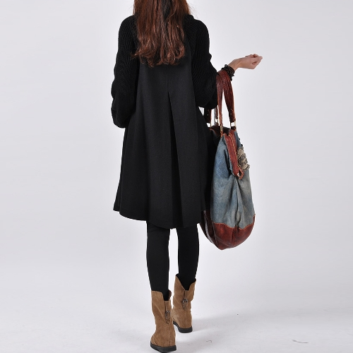 Fashion Women Swing Coat Turtleneck Long Sleeve Button Winter Thick Outerwear Trench Coat Overcoat Black/Grey/RedApparel &amp; Jewelry<br>Fashion Women Swing Coat Turtleneck Long Sleeve Button Winter Thick Outerwear Trench Coat Overcoat Black/Grey/Red<br>