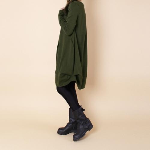 New Autumn Women Casual Loose Baggy Midi Dress O Neck Long Sleeve Oversized Pockets Asymmetrical DressApparel &amp; Jewelry<br>New Autumn Women Casual Loose Baggy Midi Dress O Neck Long Sleeve Oversized Pockets Asymmetrical Dress<br>