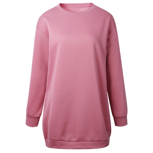 Fashion Women Plain Baggy Long Sweatshirt O Neck Long Sleeves Pockets Ladies Oversized Jumper Pullover ShirtdressApparel &amp; Jewelry<br>Fashion Women Plain Baggy Long Sweatshirt O Neck Long Sleeves Pockets Ladies Oversized Jumper Pullover Shirtdress<br>