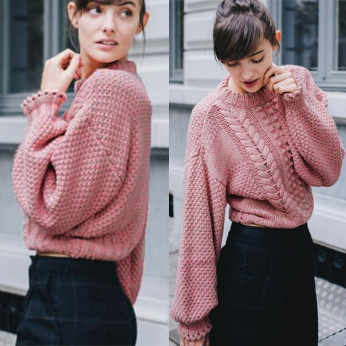New Women Knitted Sweater Twist Solid Color Long Sleeve Loose Warm Jumper Pullover Knitwear PinkApparel &amp; Jewelry<br>New Women Knitted Sweater Twist Solid Color Long Sleeve Loose Warm Jumper Pullover Knitwear Pink<br>
