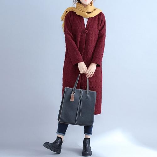 Winter Women Long Coat Long Sleeve Pockets Warm Jacket Cardigan Outerwear Overcoat Burgundy/Black/GreyApparel &amp; Jewelry<br>Winter Women Long Coat Long Sleeve Pockets Warm Jacket Cardigan Outerwear Overcoat Burgundy/Black/Grey<br>