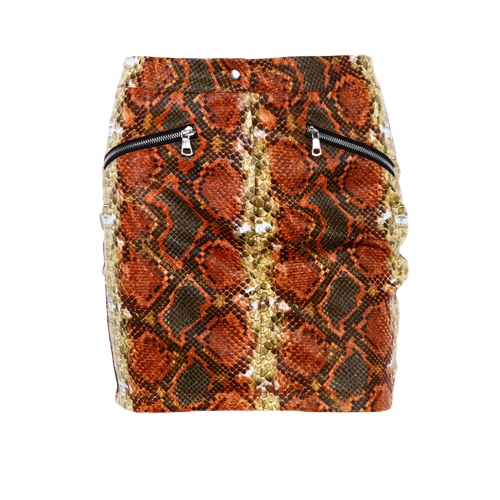 Women High Waist Skirts Snakeskin Print Zipper Front Pencil Short Club Party Bodycon Mini Skirts OrangeApparel &amp; Jewelry<br>Women High Waist Skirts Snakeskin Print Zipper Front Pencil Short Club Party Bodycon Mini Skirts Orange<br>