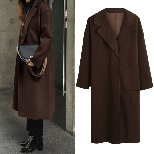 Winter Women Coat Solid Long Coat Collar Overcoat Belt Long Sleeves Pockets Female Warm Casual OuterwearApparel &amp; Jewelry<br>Winter Women Coat Solid Long Coat Collar Overcoat Belt Long Sleeves Pockets Female Warm Casual Outerwear<br>