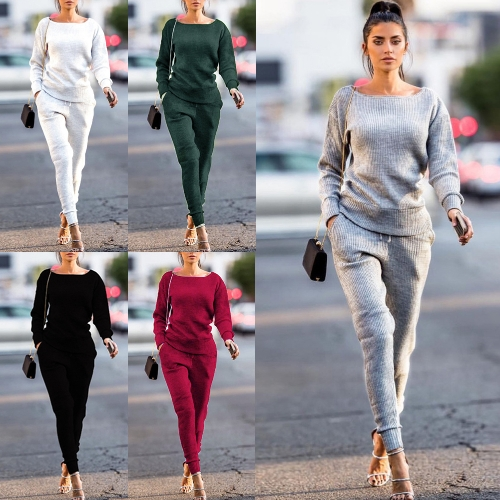 Fashion Women Tracksuit Sweatshirt Long Pants Long Sleeve Casual Solid 2 Piece Set Sport Suits StreetwearApparel &amp; Jewelry<br>Fashion Women Tracksuit Sweatshirt Long Pants Long Sleeve Casual Solid 2 Piece Set Sport Suits Streetwear<br>