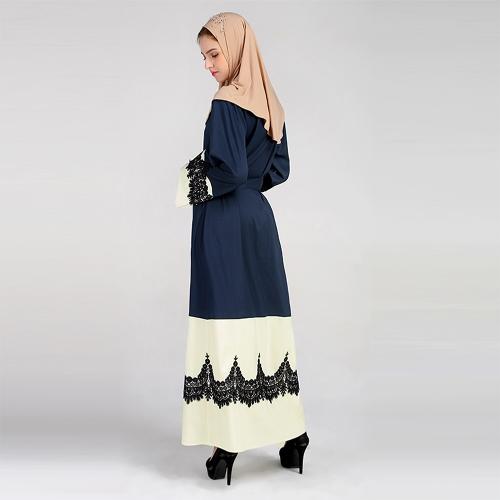 Women Plus Size Muslim Cardigan Crochet Lace Spliced Open Front Long Wide Sleeve Maxi Gown Islamic DressApparel &amp; Jewelry<br>Women Plus Size Muslim Cardigan Crochet Lace Spliced Open Front Long Wide Sleeve Maxi Gown Islamic Dress<br>