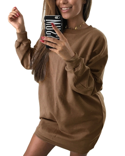 New Women Sweatshirt Long Sleeves O-Neck Solid Casual Loose Long Top PulloverApparel &amp; Jewelry<br>New Women Sweatshirt Long Sleeves O-Neck Solid Casual Loose Long Top Pullover<br>