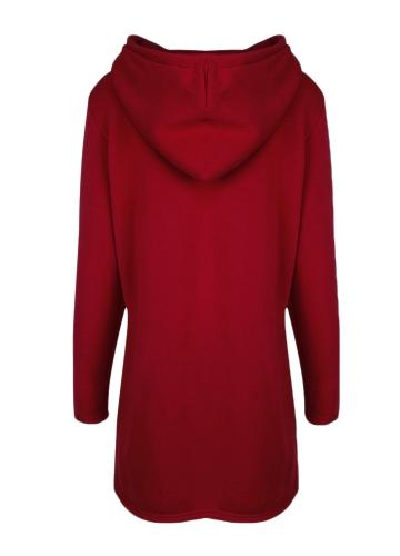 Women Casual Hoodie Long Sweatshirt Coat Pockets Zip Up Outerwear Hooded Jacket Black/Grey/RedApparel &amp; Jewelry<br>Women Casual Hoodie Long Sweatshirt Coat Pockets Zip Up Outerwear Hooded Jacket Black/Grey/Red<br>